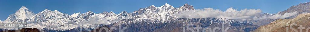 Dhaulagiri. Everest & Annapurna Circuit. Nepal motives stock photo