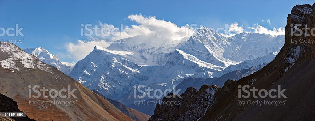 Dhaulagiri. Everest & Annapurna Circuit. Nepal motives stock photo