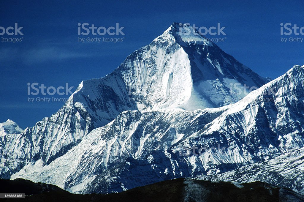 Dhaulagiri, Nepal, from the Kali Gandaki valley royalty-free stock photo