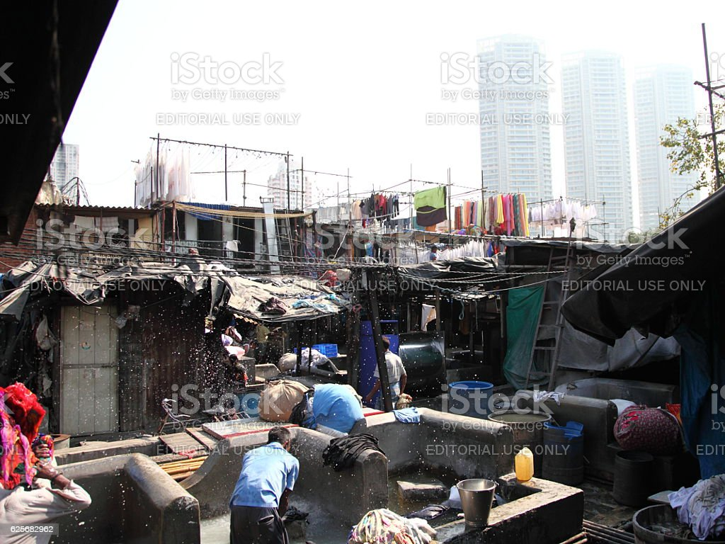 Dhobi Ghat is known as the world's largest outdoor laundry stock photo