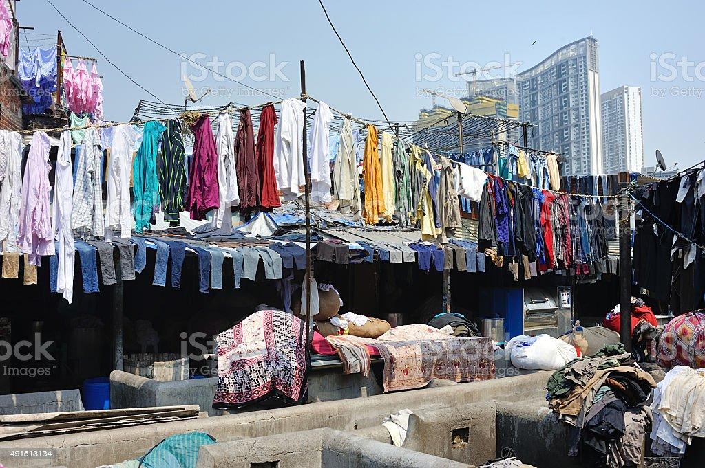 Dhobi Ghat Laundry stock photo