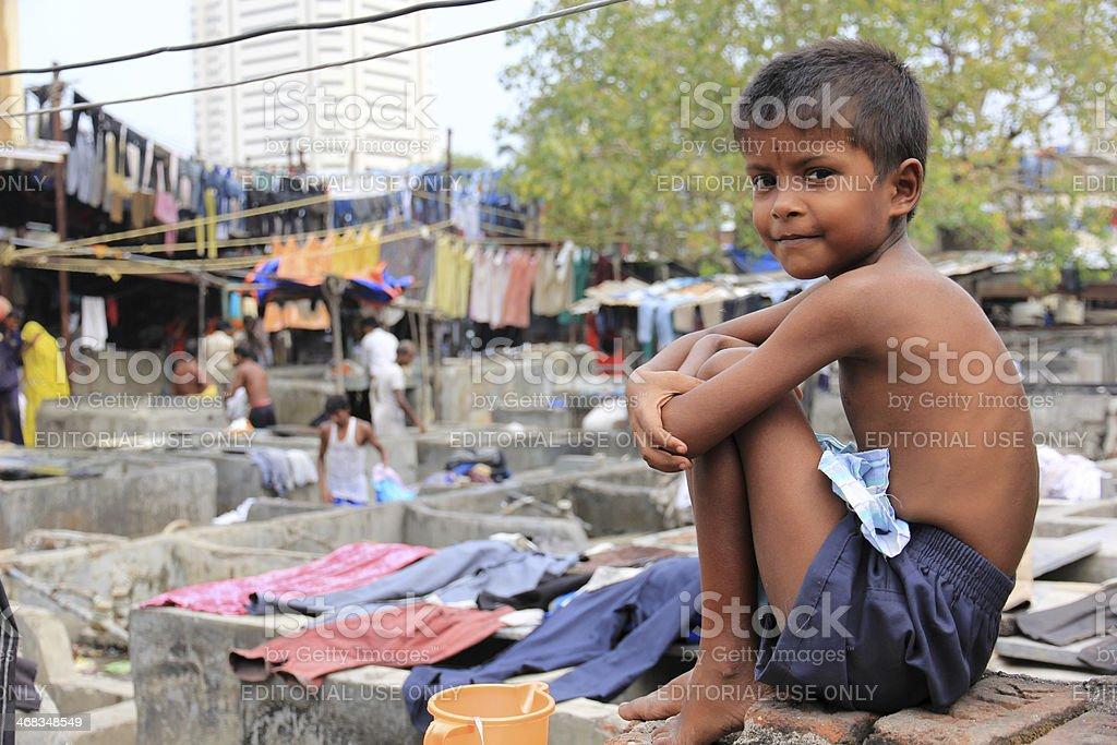 Dhobi Ghat, Mumbai stock photo