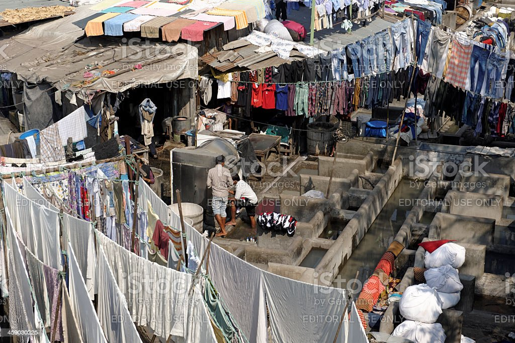 Dhobi ghats in Mumbai royalty-free stock photo