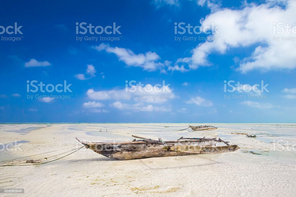 Dhow at the beach stock photo