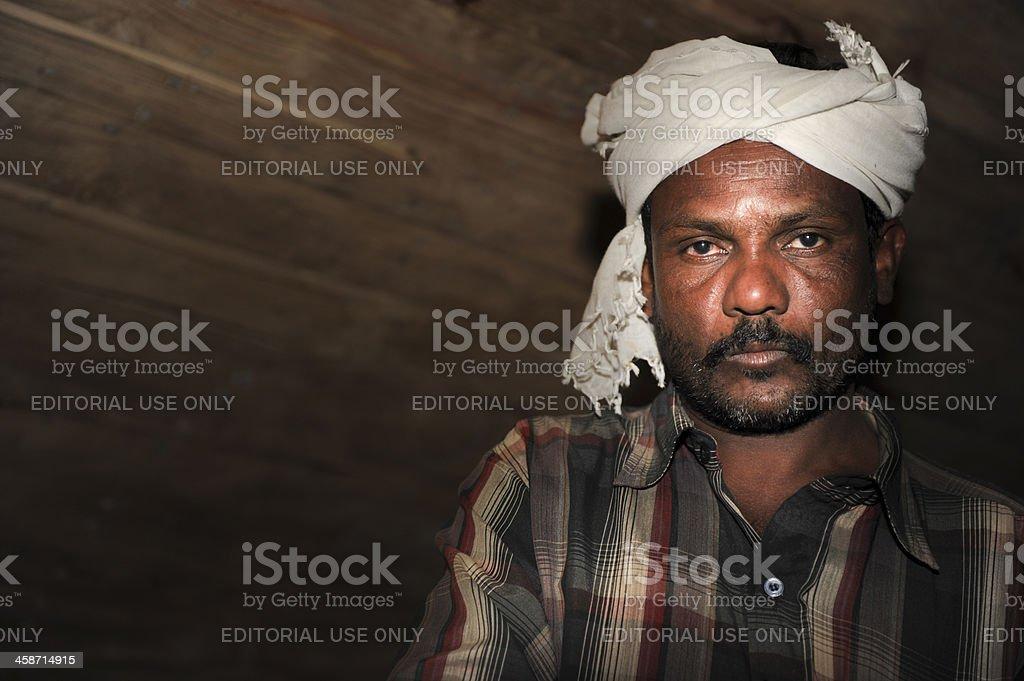 Dhow builder, Dubai, UAE royalty-free stock photo
