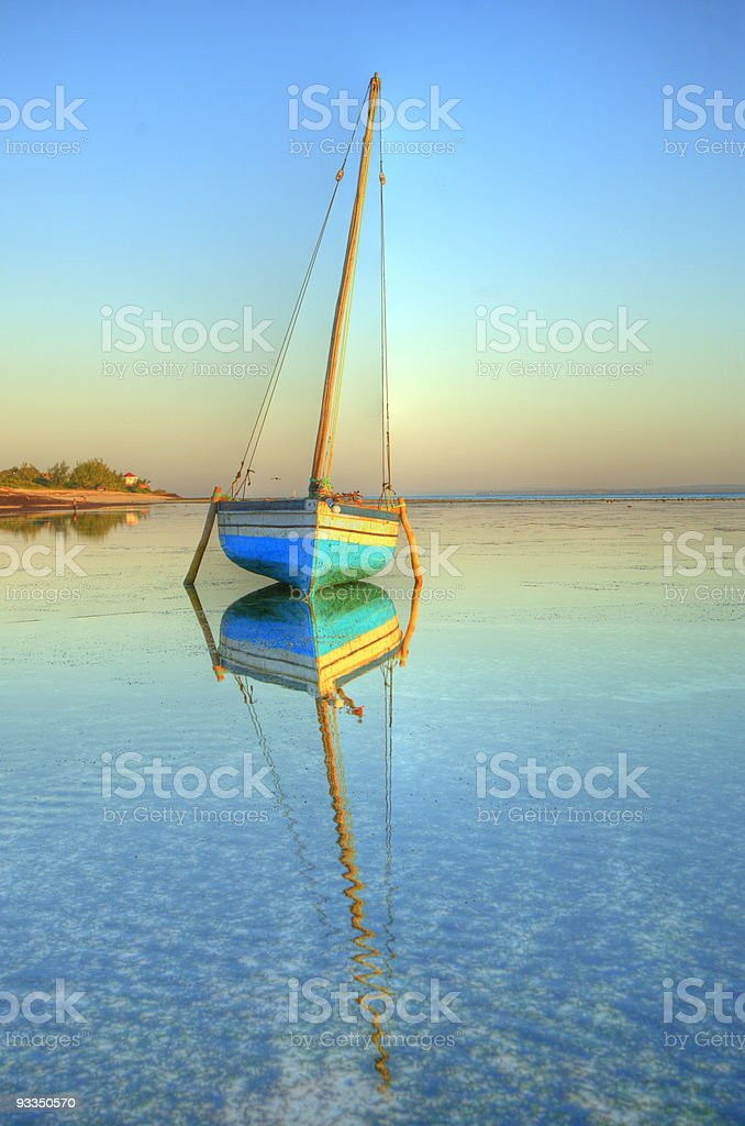 dhow in paradise stock photo
