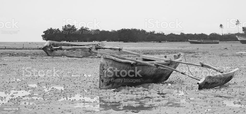 Dhow on Beach royalty-free stock photo