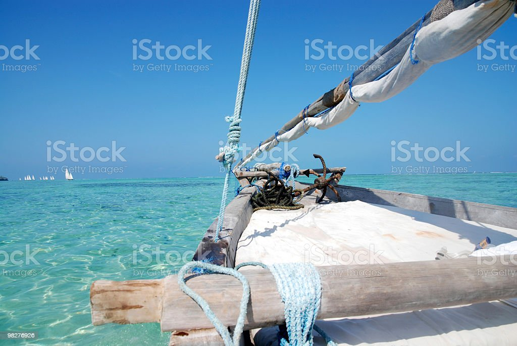 dhow sailing on zanzibar royalty-free stock photo