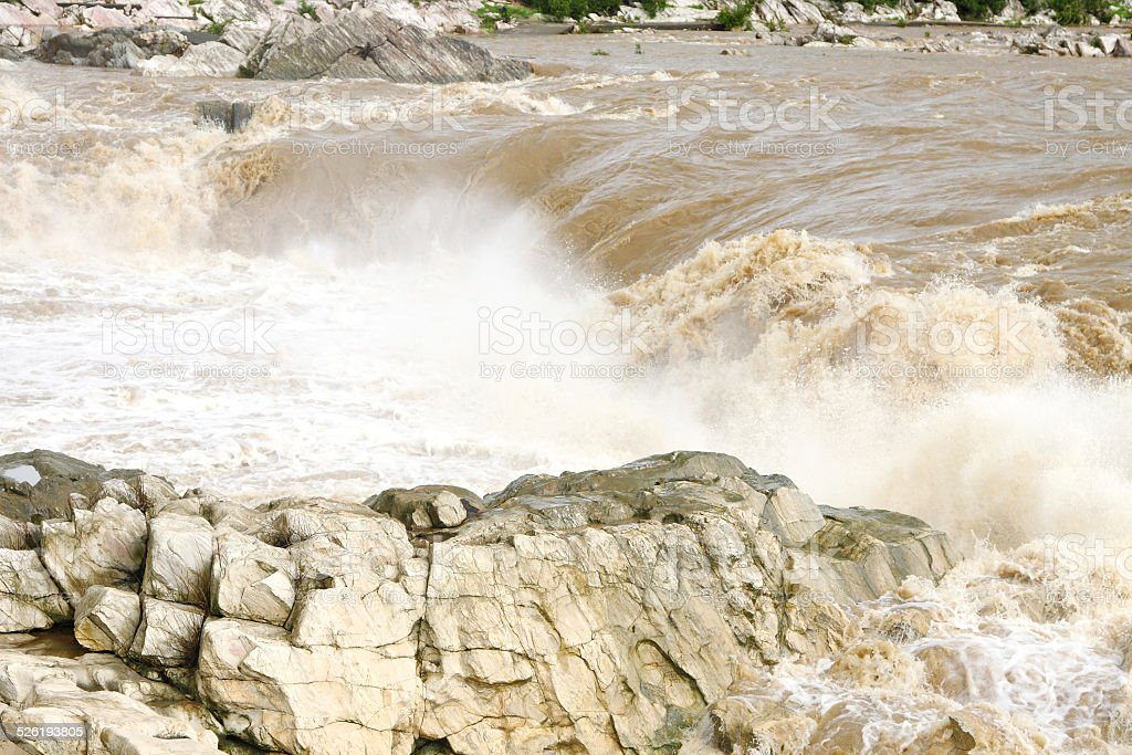 Dhuandhar fall in monsoon season, Jabalpur stock photo
