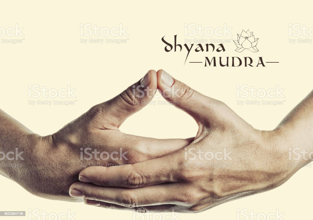 Dhyana mudra. stock photo