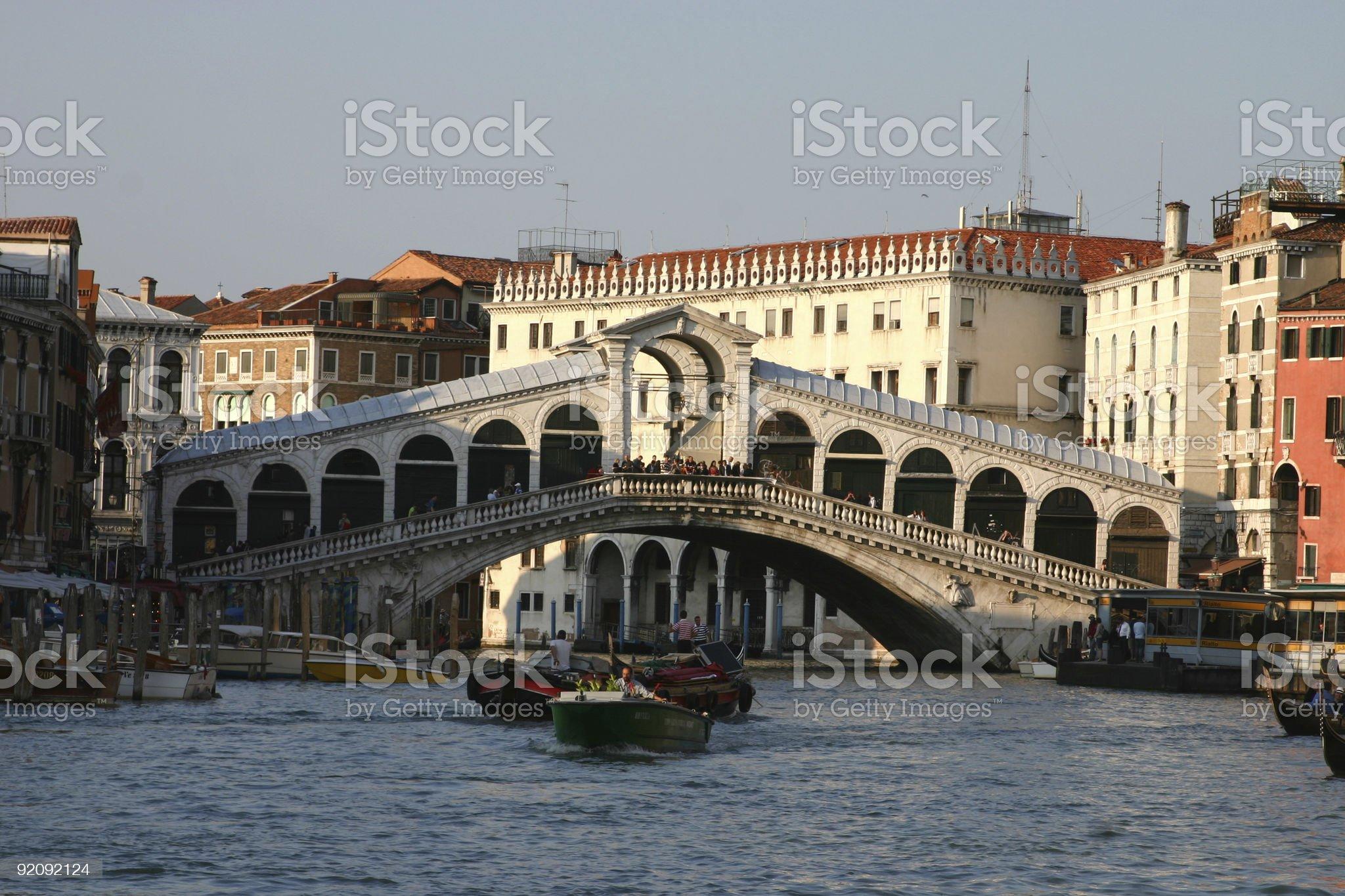 Di Rialto bridge royalty-free stock photo