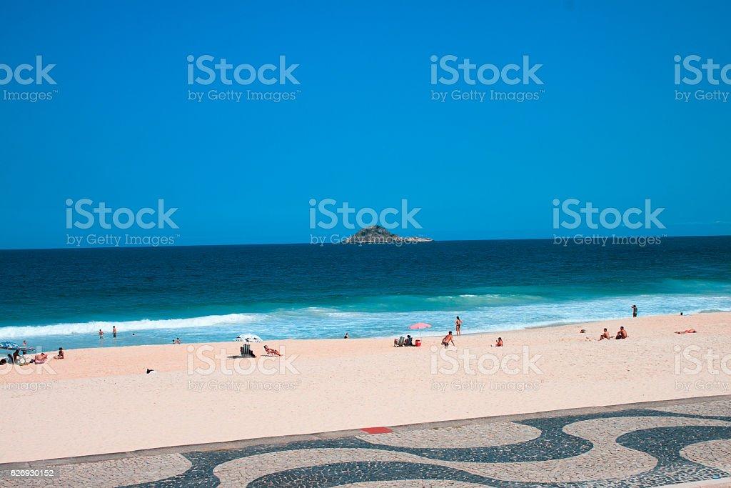 Dia de sol na Praia do Pepino stock photo
