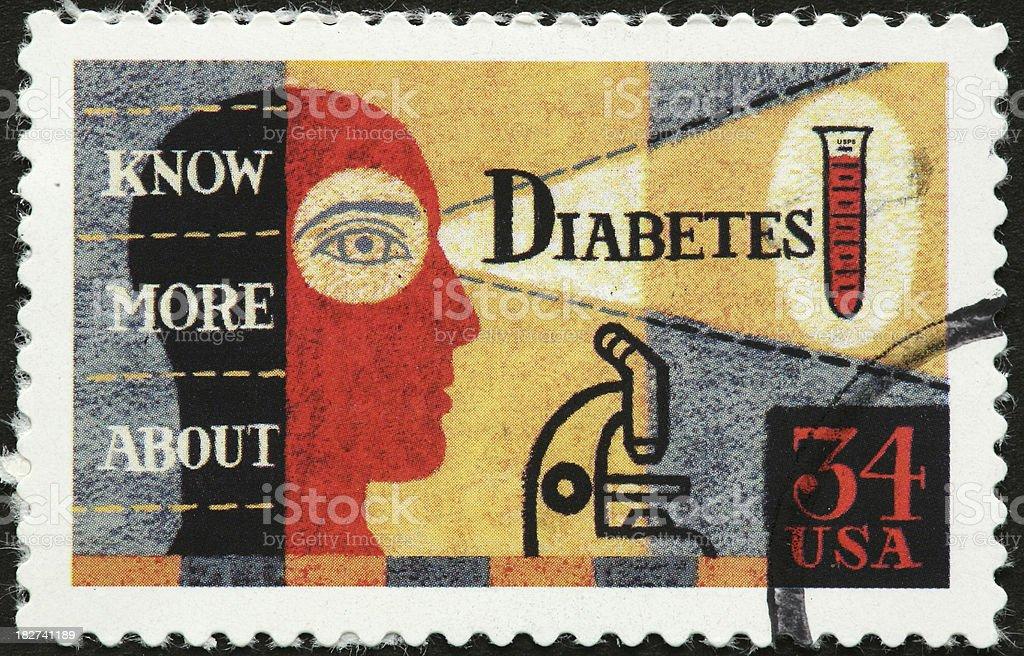 diabetes awareness stamp royalty-free stock photo