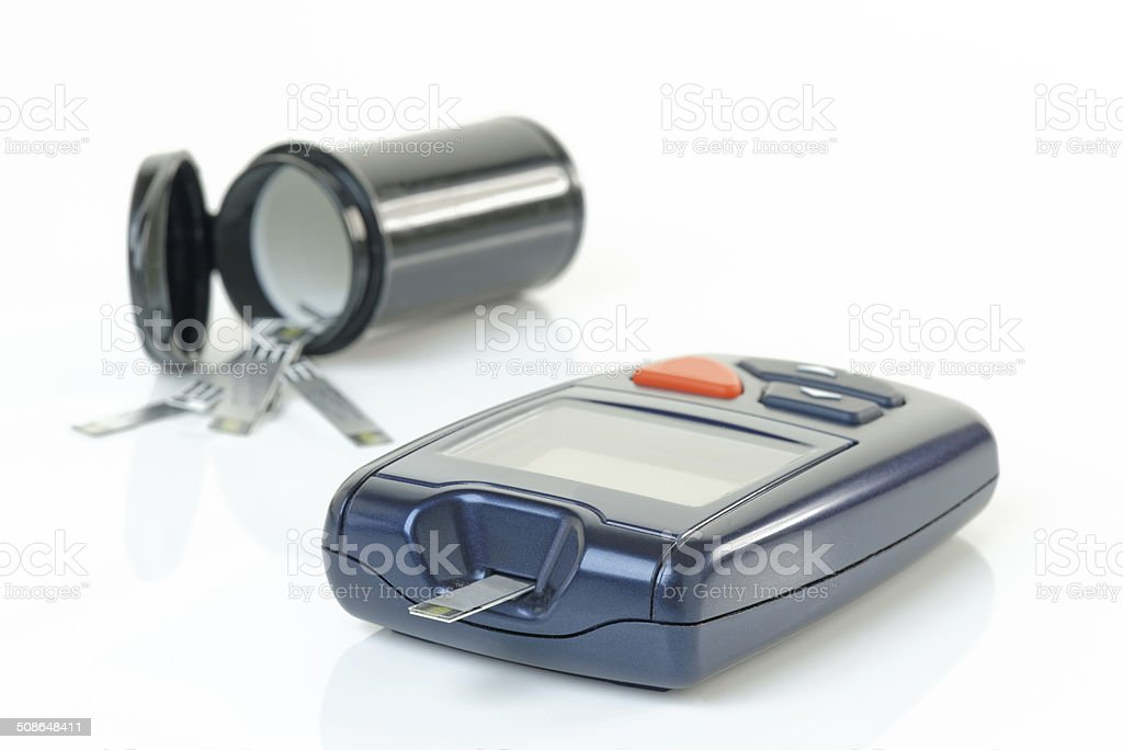 Diabetes Blood Monitor stock photo