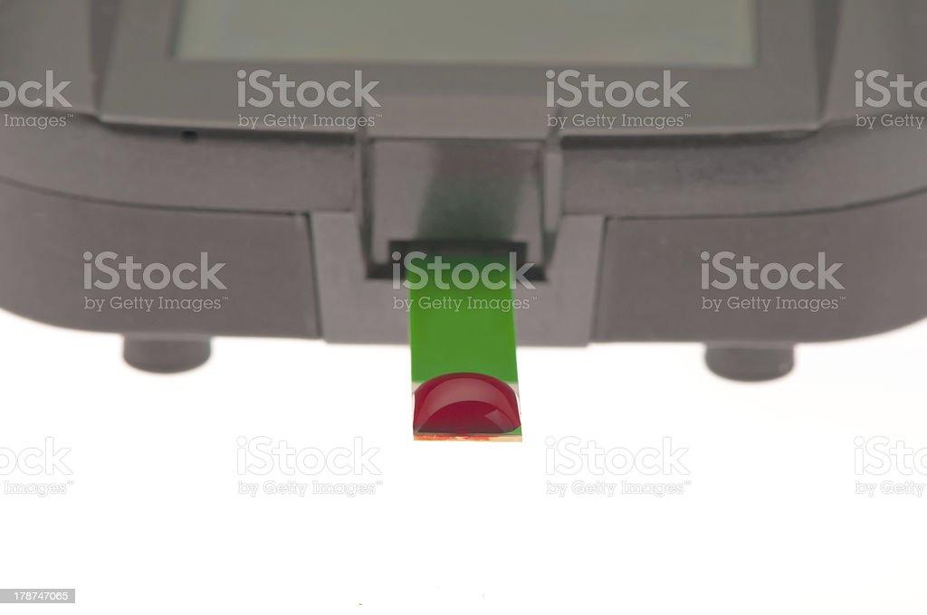 diabetes blood sugar test stock photo