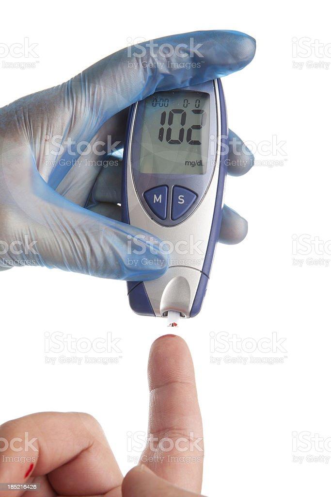Diabetes Blood Test royalty-free stock photo