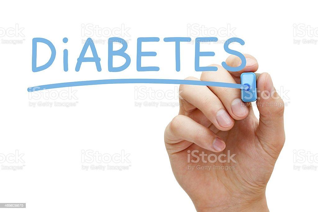 Diabetes Blue Marker stock photo