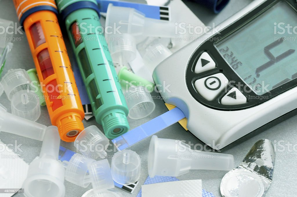Diabetes care stock photo