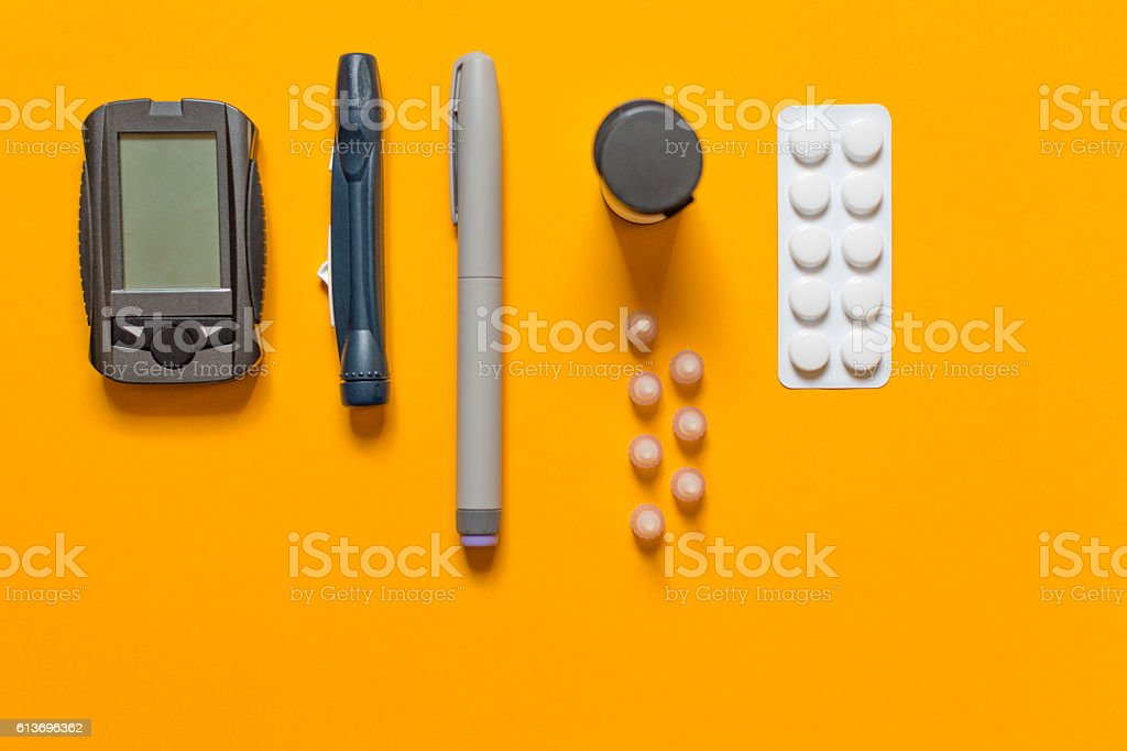diabetes care stock photo