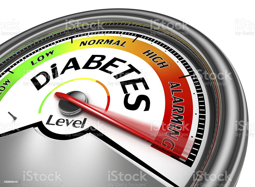 diabetes conceptual meter stock photo