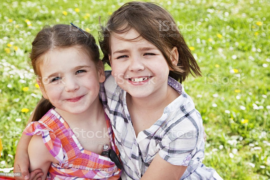 diabetes girl and sister love summer royalty-free stock photo