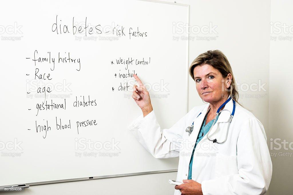Diabetes medical specialist stock photo