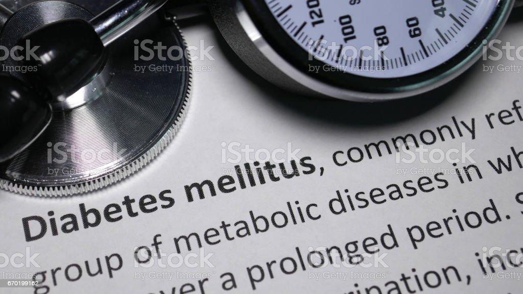 Diabetes Mellitus stock photo