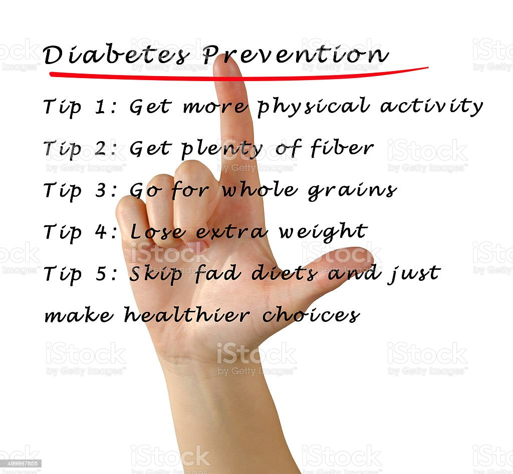 Diabetes prevention stock photo
