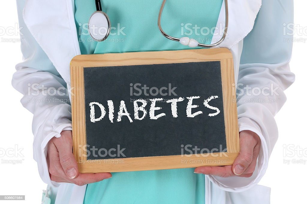 Diabetes sugar disease ill illness healthy health doctor stock photo