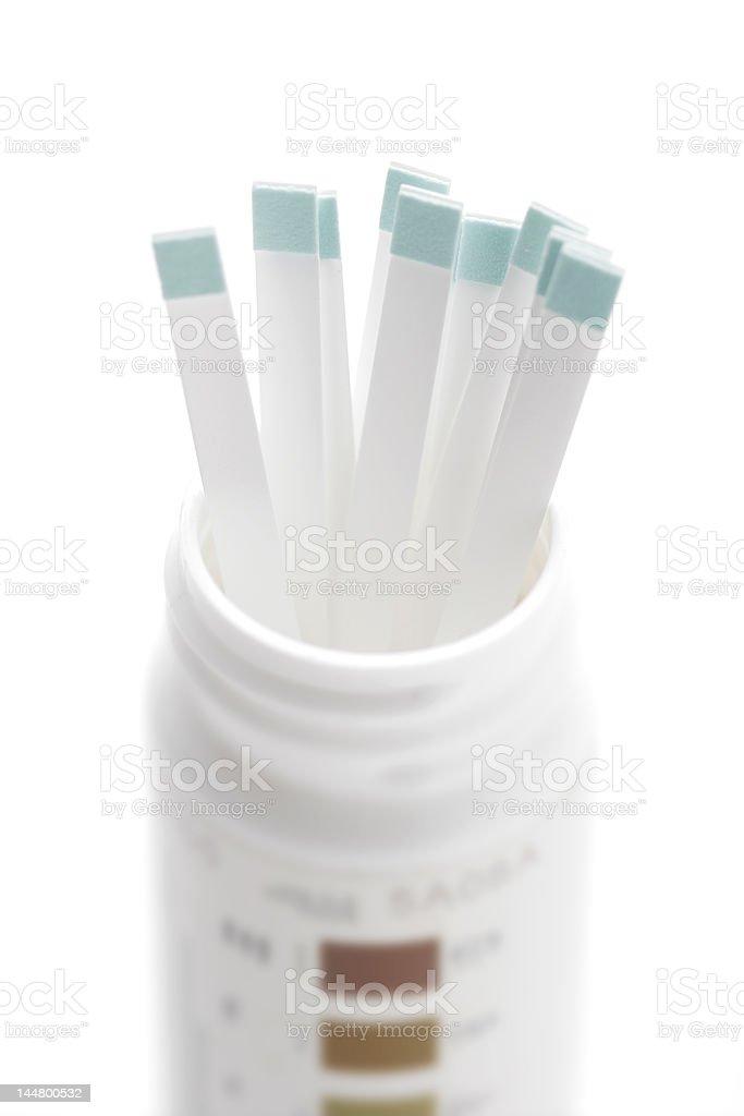 Diabetes test strips stock photo