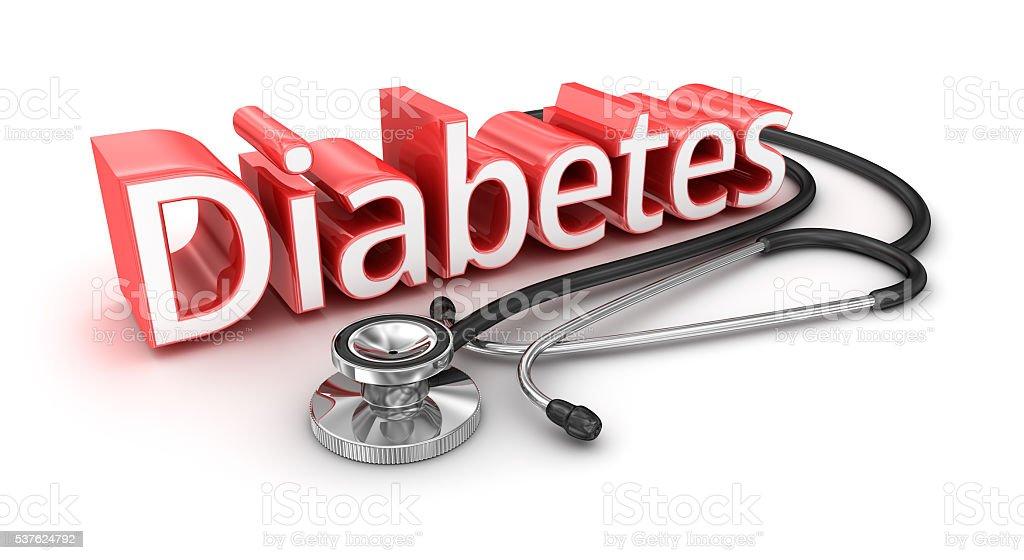 Diabetes  text, 3d medicical Concept stock photo