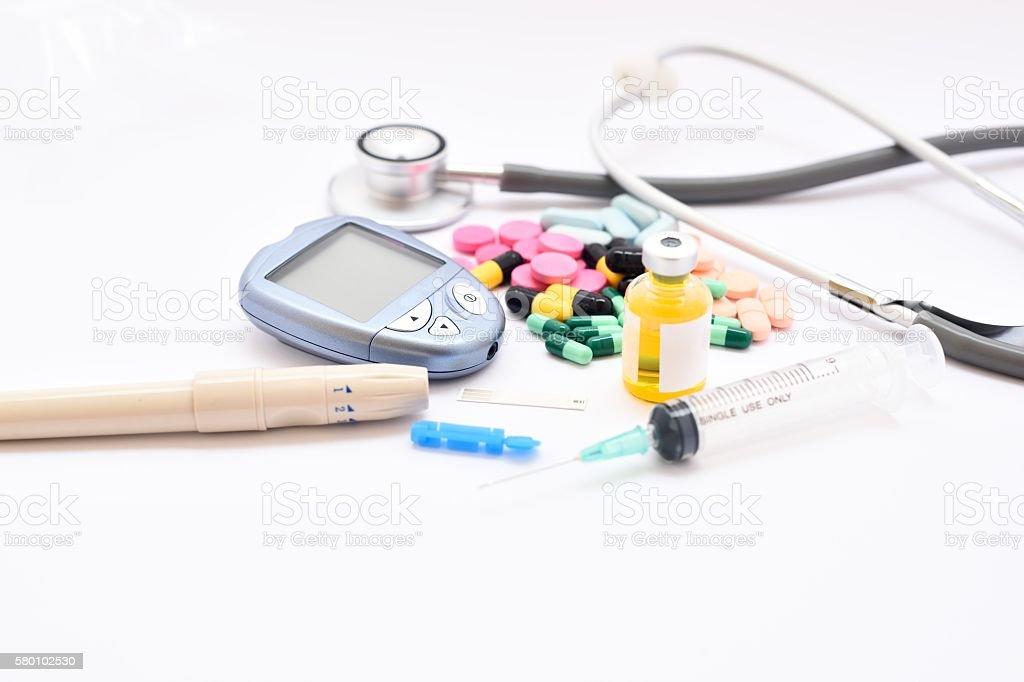 Diabetes treatment stock photo
