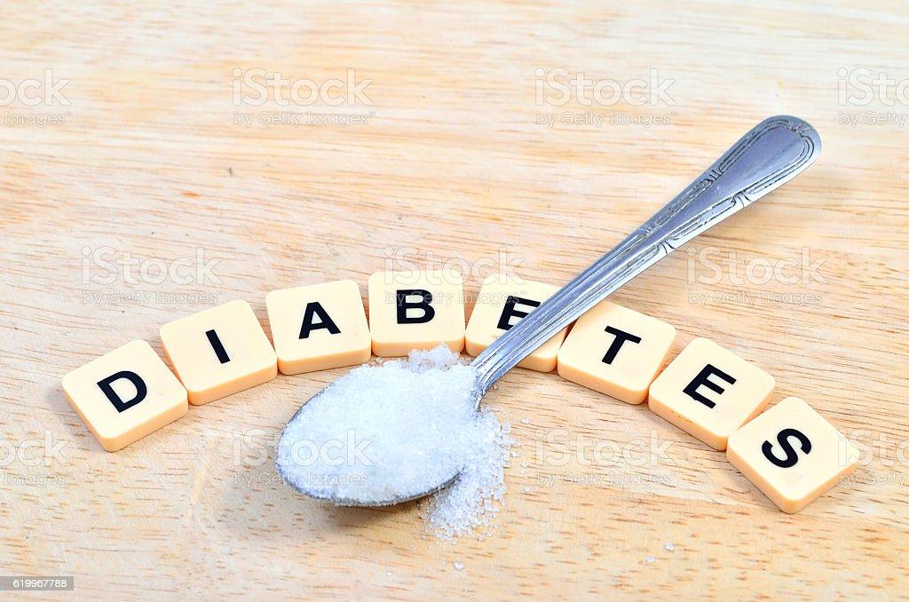 Diabetes word in crossword style stock photo