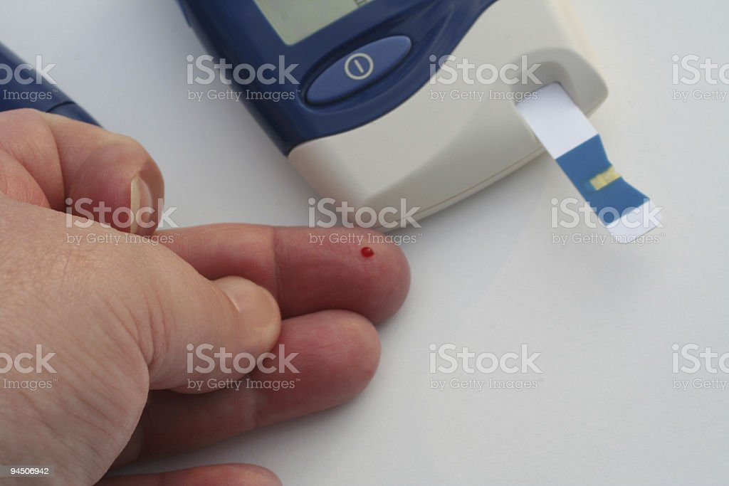 Diabetic 2 stock photo