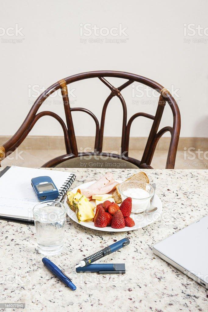 Diabetic friendly breakfast royalty-free stock photo