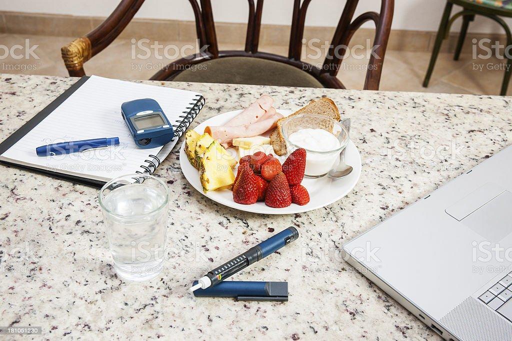 Diabetic friendly meal. stock photo