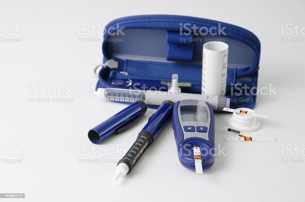Diabetic items royalty-free stock photo