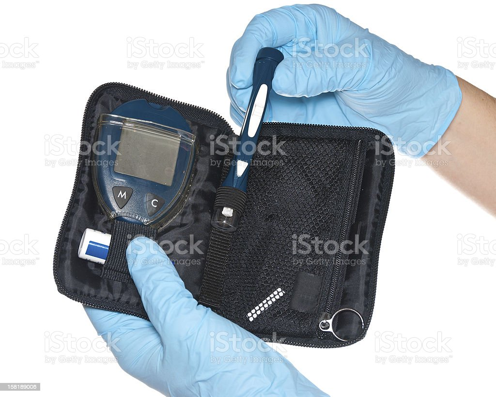 Diabetic Lancet stock photo