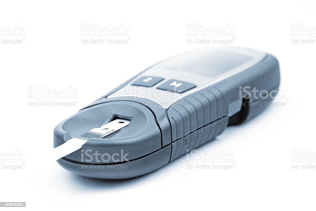 Diabetic test device stock photo