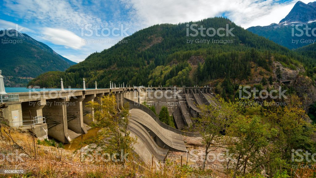 Diablo Dam stock photo