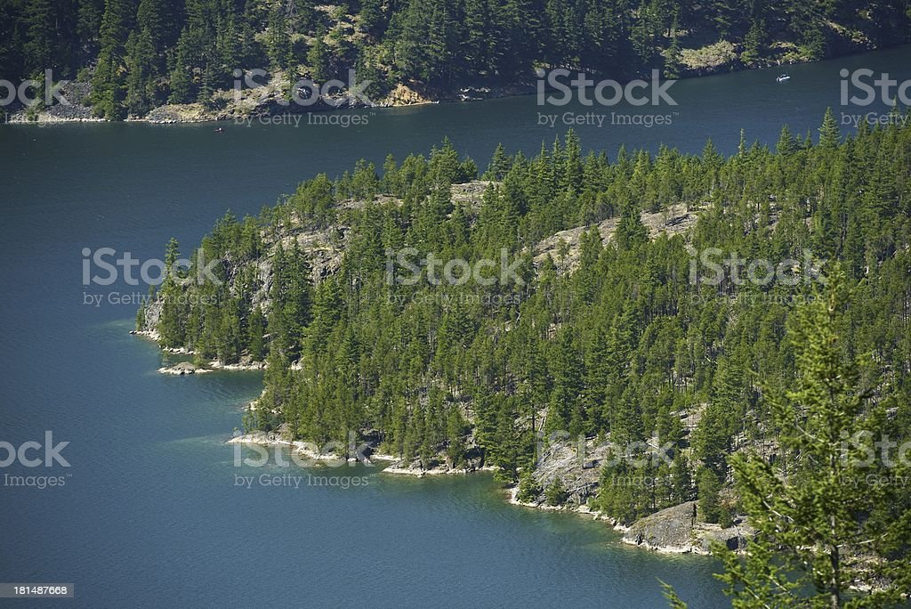 Diablo Lake Aerial Photo stock photo
