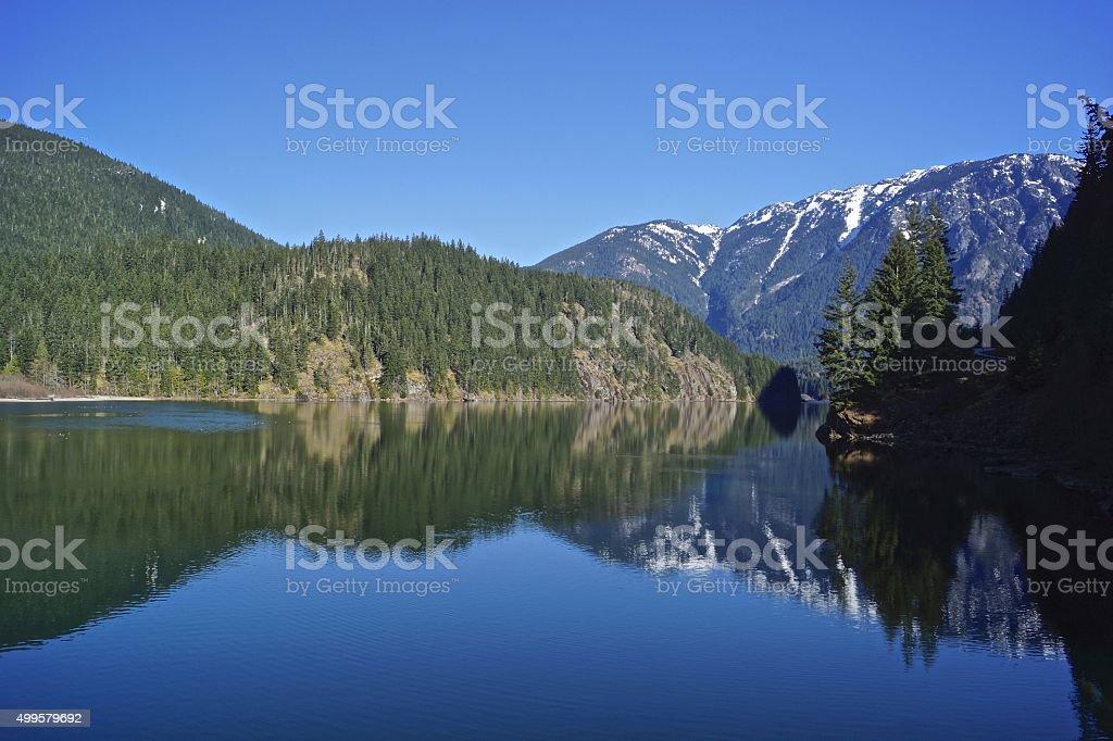 Diablo Lake Blues stock photo