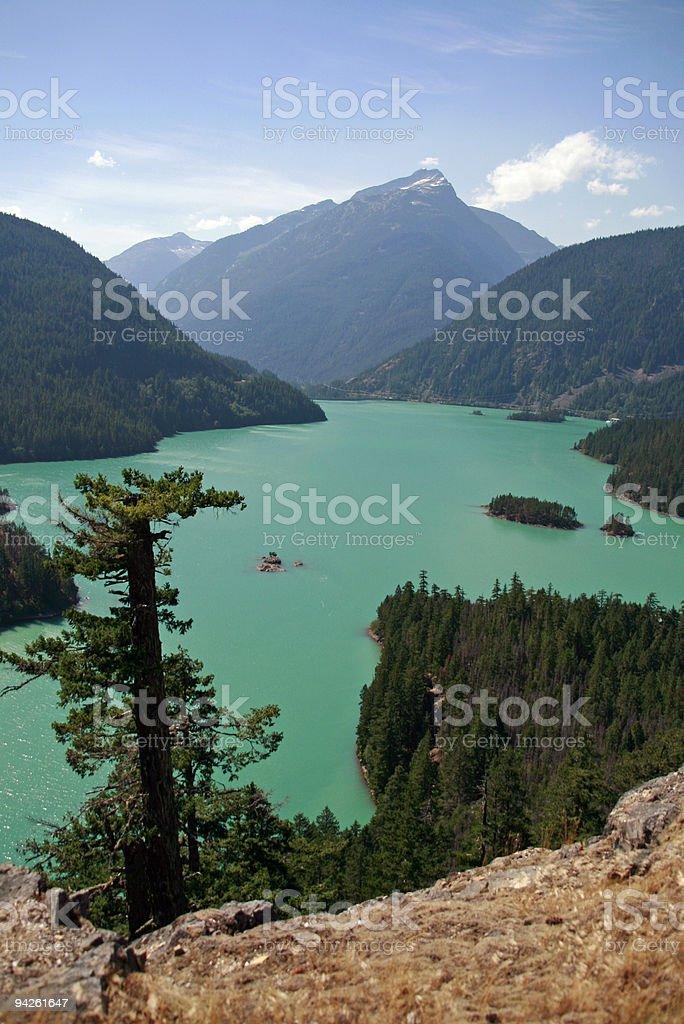 Diablo Lake - Eastern Washington stock photo
