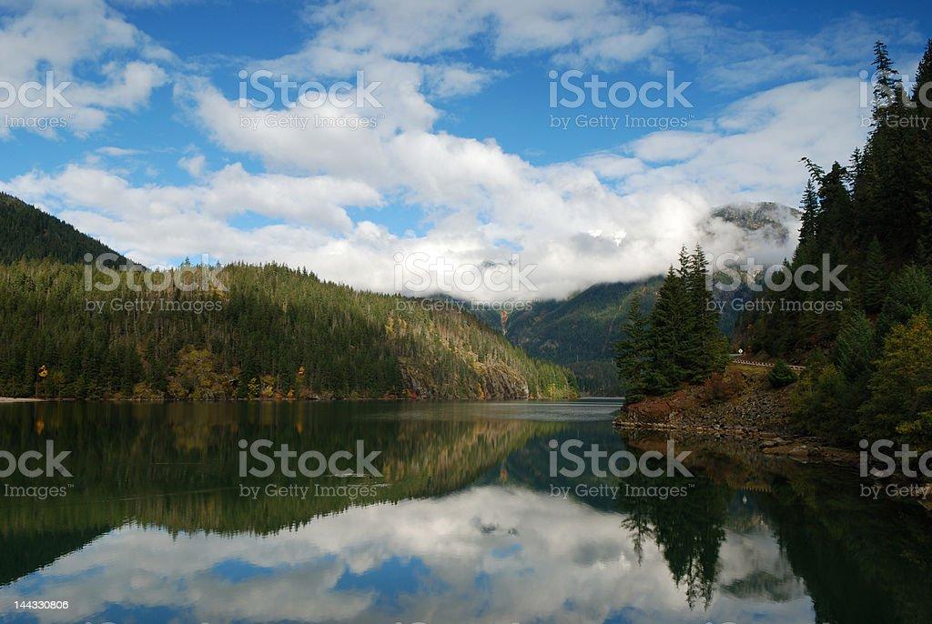 Diablo lake in north cascades national park stock photo