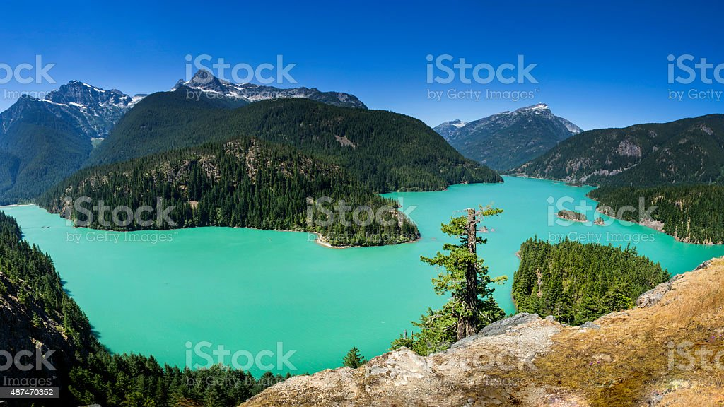 Diablo Lake, North Cascades National Park stock photo