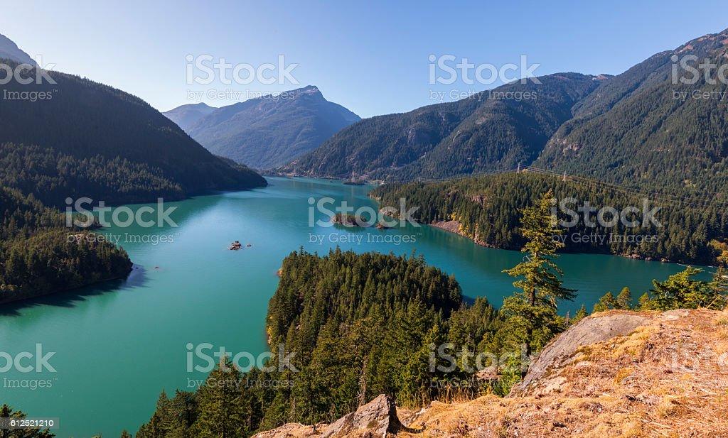 Diablo Lake stock photo