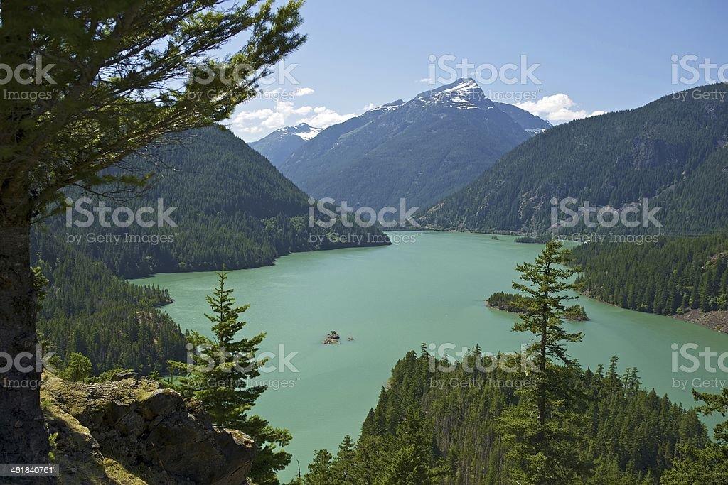 Diablo Lake Washington stock photo