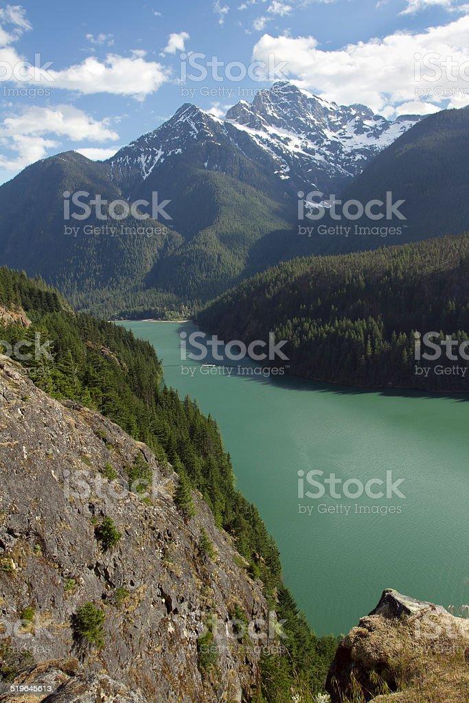 Diablo Lake, Washington stock photo