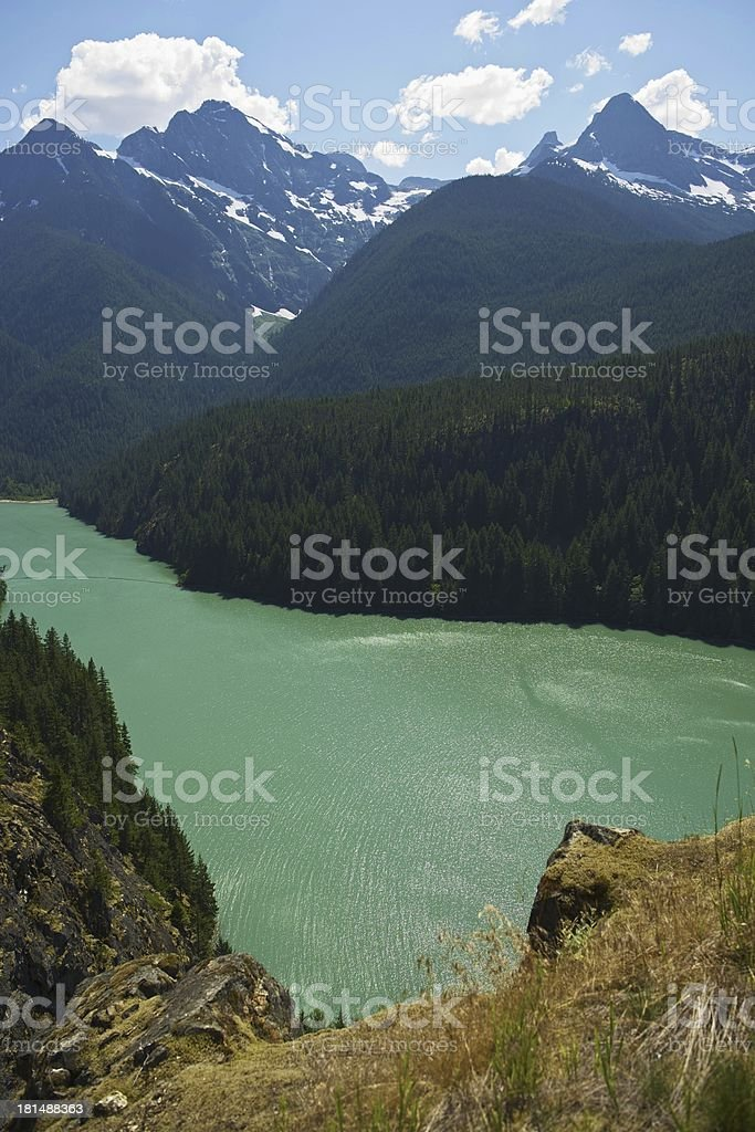 Diabo Lake North Cascades stock photo