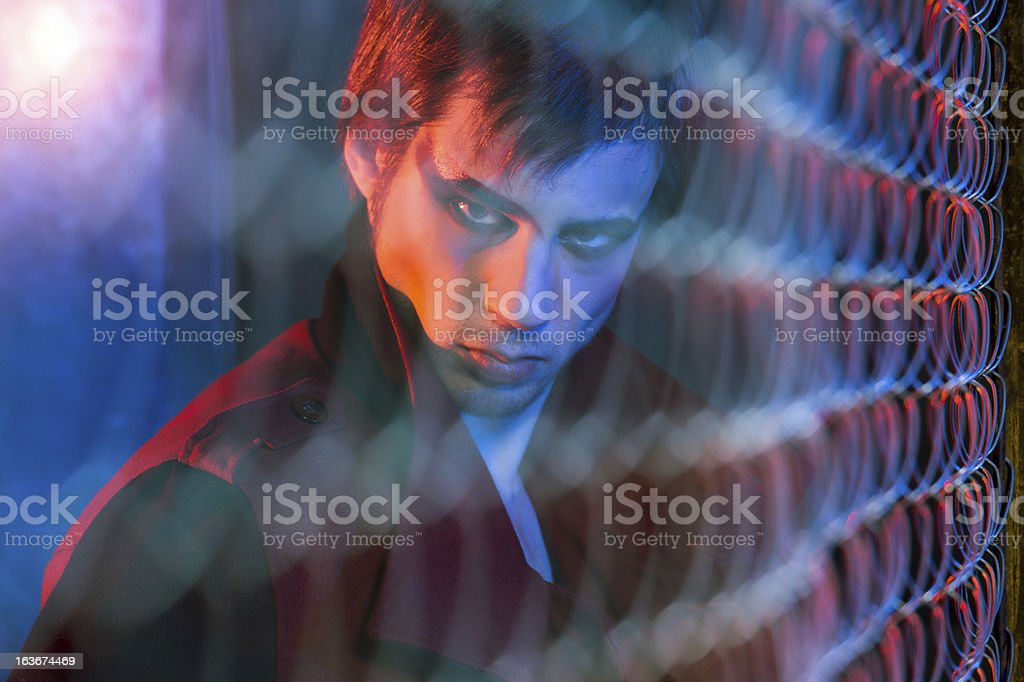Diabolic look royalty-free stock photo